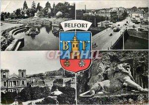 Postcard Modern Belfort Jean Jaures Square District Bridge Carnot Eglise Sain...