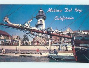 Pre-1980 FISHERMAN'S VILLAGE Marina Del Rey - Los Angeles California CA hn1899