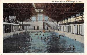 Hot Springs South Dakota Evans Plunge Swimming Pool Antique Postcard J55874