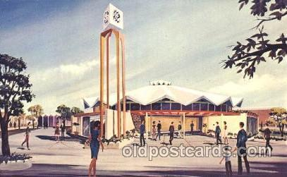The general electric pavilion Hemisfair Exposition 1968, Texas, USA Worlds Fa...