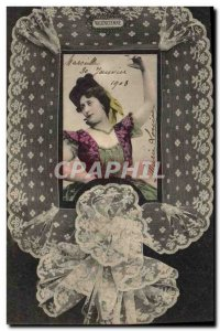 Old Postcard Folklore Lace Valencian Dentelliere