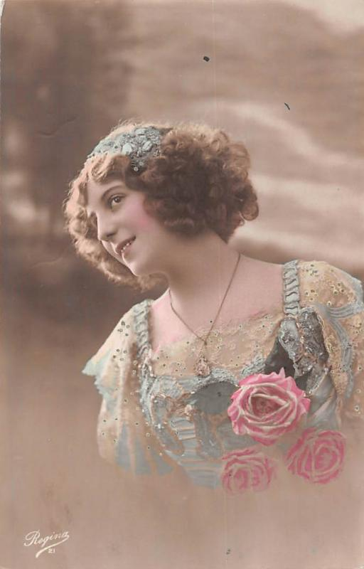 Roses, glamour dame, dreamy, beauty, Regina 1916
