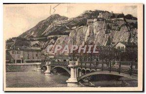 CARTE Postal Grenoble Old Bridge Porte de France and Forts