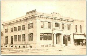DAVID CITY, Nebraska Real Photo RPPC Postcard POST OFFICE Street View 1920