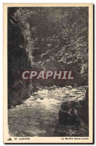 Old Postcard Luchon Chasm Marie Louise