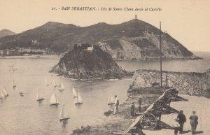 SAN SEBASTIAN , Spain,  1901-07 ; Isla de Santa Clara deside ei Castillo