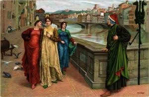 CPA STENGEL The Meeting of Dante and Beatrice (744866)