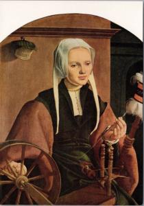 'Anna Codde' Maerten Van Heemskerck Art Artist Repro Unused Postcard D50