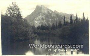 Mt Rundle Banff Canada Writing On Back