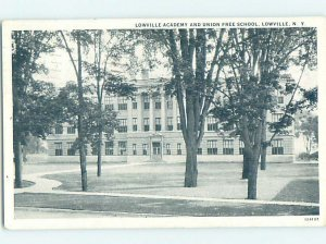 Pre-Chrome SCHOOL Lowville by Carthage & Fort Drum & Watertown NY AG9994