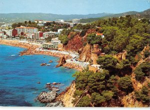 B109671 Spain Costa Brava Lloret de Mar Beach Plage Hotel Panorama