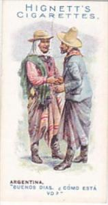 Hignett Bros Vintage Cigarette Card Greetings Of The World 1907 No 13 Argentina