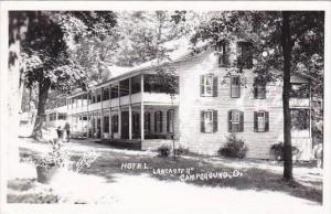 Ohio Lancaster Hotel Lancaster 1952 Real Photo RPPC