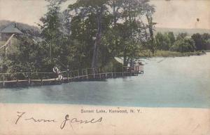 New York Kenwood Sunset Lake 1907