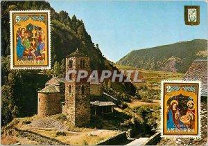 Postcard Modern Valls d'Andorra Alt 1560m Roman Church