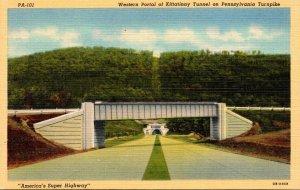 Pennsylvania Turnpike Western Portal Of Kittatinny Tunnel 1947 Curteich
