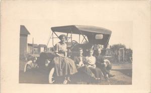 D41/ Early Automobile Car Auto Real Photo RPPC Postcard c1910 Family 2