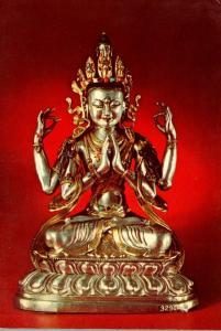 Avallokitesvara Cast Silver Image Lhasa Tibet Field Museum Of Natural History...