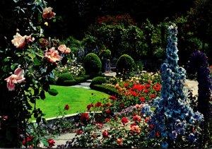 Canada British Columbia Victoria Butchart Gardens Delphiniium Time