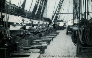 MA - Charlestown, Boston. USS Constitution (Old Ironsides), Spar Deck
