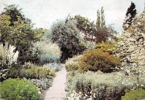 B100069 sissinghurst castle kent the white garden  uk