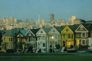 San Fransisco Victorian Houses American Postcard