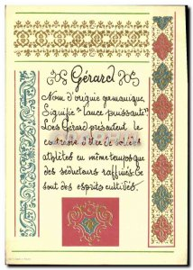 Postcard Old Surname Gerard