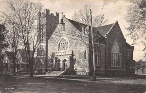 Mount Pleasant Iowa First Methodist Episcopal Church Antique Postcard K12319