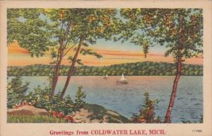 Michigan Greetings From Coldwater Lake