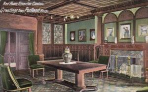 Interior Red Room Riverton Casino Greetings From Portland Maine 1905