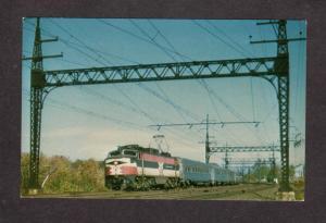 CT New Haven Railroad Train Engine Milford Conn Connecticut Postcard Loco 370