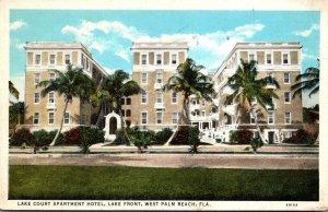Florida West Palm Beach Lake Court Apartment Hotel Lake Front Curteich