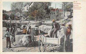 Weighing Cotton Bales Morrillton Arkansas postcard