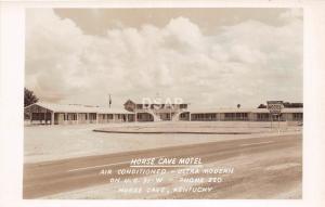 C39/ Horse Cave Kentucky Ky Real Photo RPPC Postcard c50s Motel US31W 2