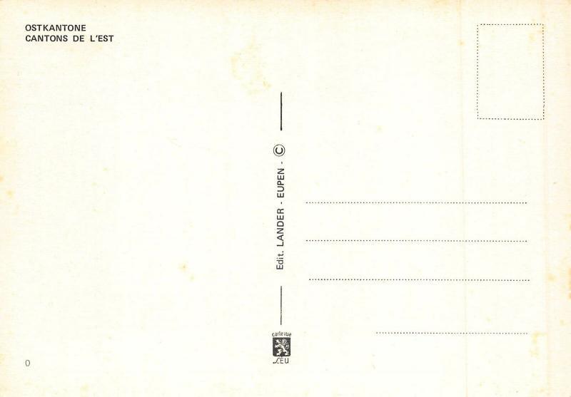Belgium Un Bonjour des Cantons de l'Est Church Eglise Postcard