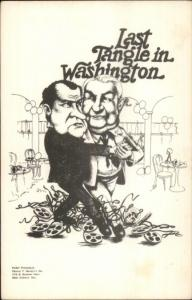Political Satire President Nixon Dancing Last Tangle in Washington Watergate