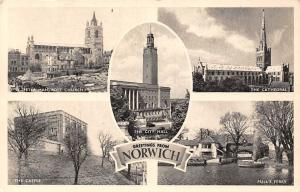 Norwich St. Peter Mancroft Church City Hall Cathedral Castle Pull's Ferry