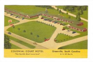 Colonial Court Hotel, Greenville, South Carolina, 1930-1940s