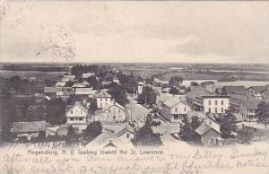 New York Hognasburg Looking Toward St Lawrence 1908
