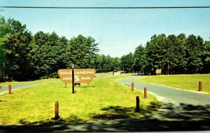 Maryland Worcester County Pocomoke River Shad Landing State Park Entrance Sign