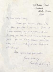 Ann George Amy Turtle Acorn Antiques Crossroads TV Show Hand Signed Letter