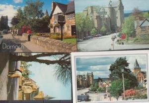 Dornoch Post Office Square Mounted Horse 4x Postcard s