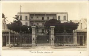 Noumea New Caledonia Hospital Colonial Real Photo Postcard