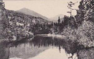 New York St Huberts Upper Ausable Lake And Haystack Mountain Albertype