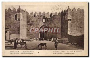 Israel - Jerusalem - The Damascus Gate - Gate of Damascus - ass - donkey - Ol...