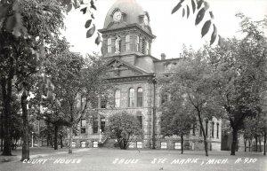 LPM38 Sault Ste Marie Court House   Michigan RPPC Postcard