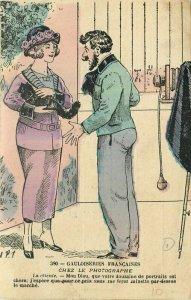 Artist impression man upset with woman #390 1919 Postcard 21-10271