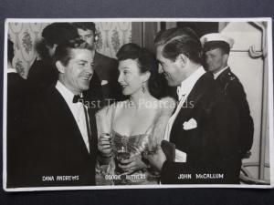 Actors: Dana Andrews, Googie Withers & John McCallum - Old RP Postcard