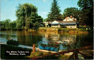 DANBURY CT The White Turkey Inn Postcard - Connecticut VINTAGE COLOR POSTED