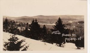 Vermont Marlboro Hogback Mountain Winter Scene Real Photo